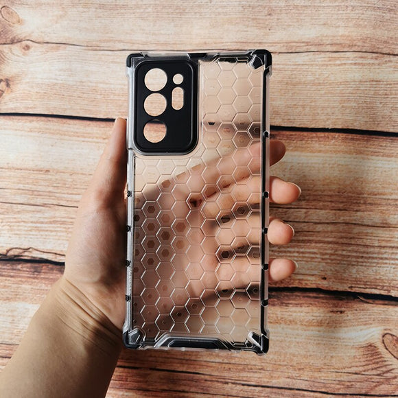 Drop Resistant Translucent Honeycomb Pattern Cases For Samsung Galaxy Note Series