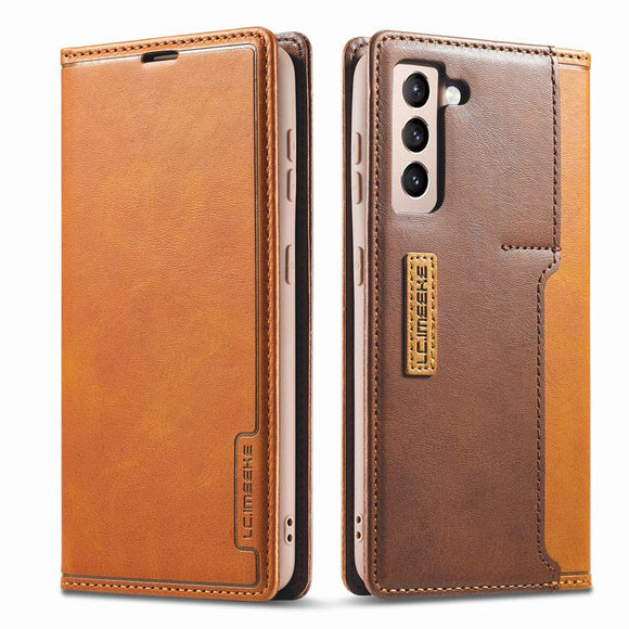 Luxury Leather Flip Magnetic Case For Samsung Galaxy S21 Series