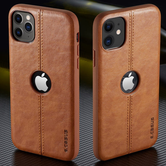 New Arrival SLIM Leather Back Case For iPhone 12