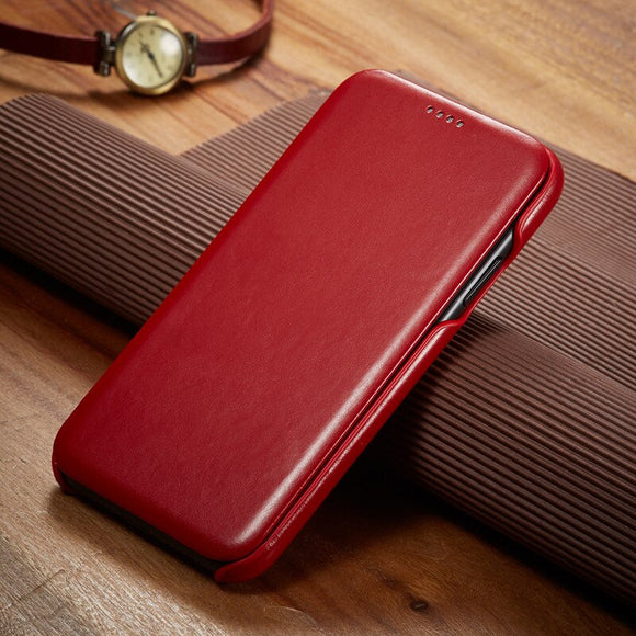 Luxury Leather Magnet Cover Case For iPhone 12