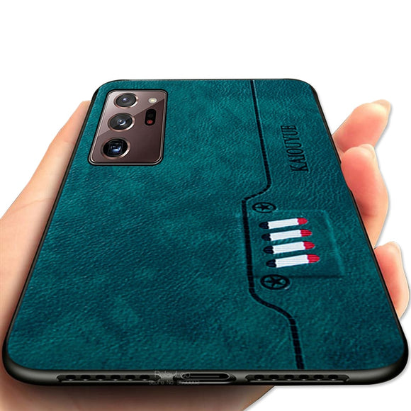 Luxury Business Leather Texture Cases For Samsung Galaxy Note 20/Ultra