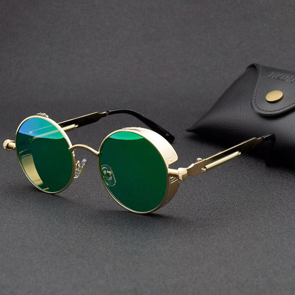 Vintage Gothic Round Metal Frame Sunglasses(Buy 2 Get 10% OFF, Buy3 Get 15% OFF)