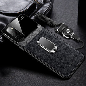 Shockproof PU Leather Tempered Glass With Stand Case for Samsung Galaxy Note Series(Buy 2 Get 10% OFF, Buy3 Get 15% OFF)