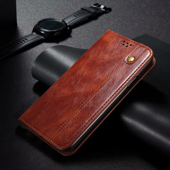 Retro PU Leather Magnetic Book Wallet Case For Samsung Galaxy S21 Series
