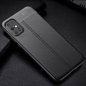 Shockproof Litchi Leather Soft Silicon Case for Samsung Galaxy  S20/20PS20 Ultra