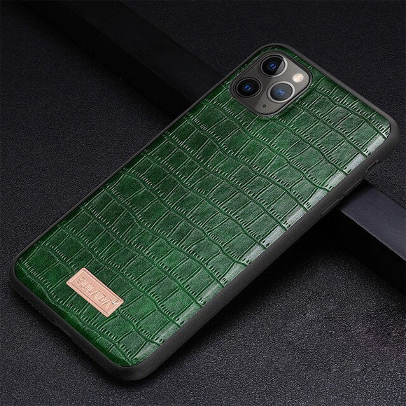 Crocodile Texture PU Leather +TPU Hybrid Case for iPhone 12