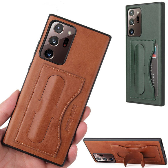 Luxury Business PU Leather Kickstand Case For Samsung Galaxy Note