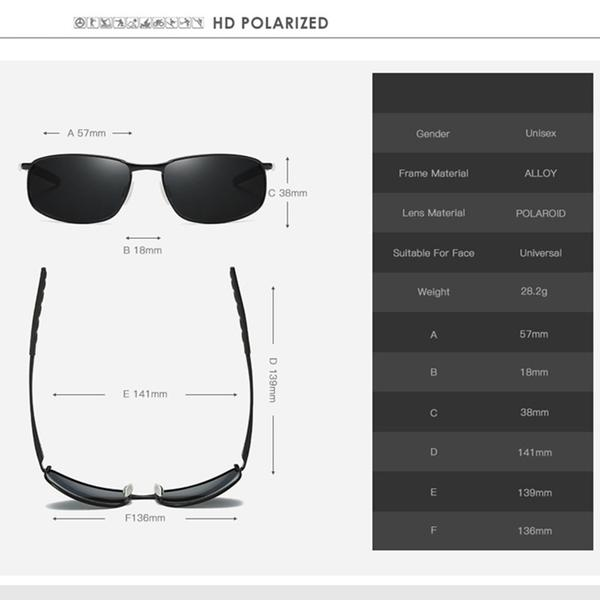 Luxury Metal Frame HD Polarized Sunglasses for Men