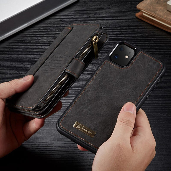 Business Flip Wallet Magnetic Case For iPhone 12