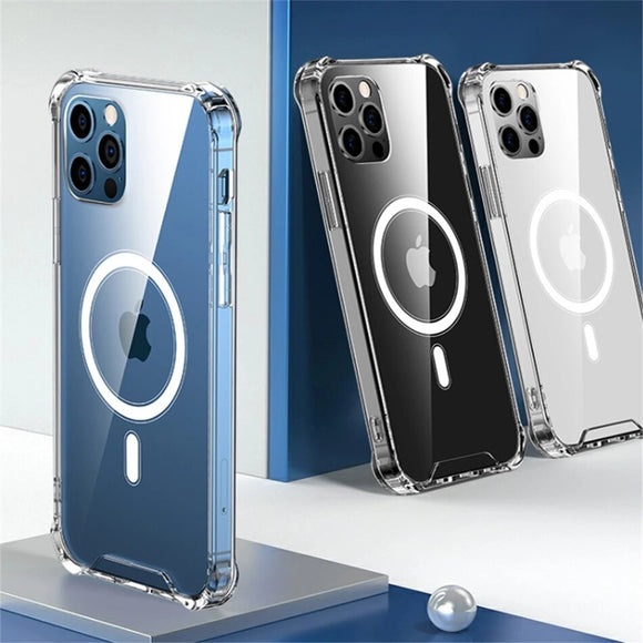 Original Transparent Clear Magnetic Case for iPhone 12