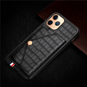 Crocodile PU Leather Wallet Magnet Flip Case For iPhone