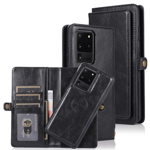 Detachable Magnetic PU Leather Wallet Case for Samsung Galaxy S20