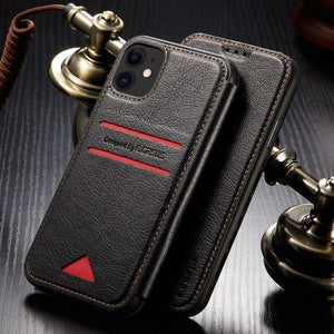 Vintage PU Leather Business Card Slot Cases for iPhone(Buy 2 Get 10% OFF)