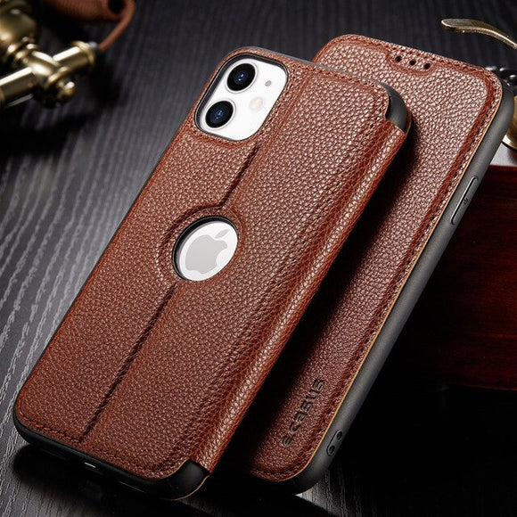 Retro Card Slot Wallet Litchi Leather Cases For iPhone(Buy 2 Get 10% OFF)