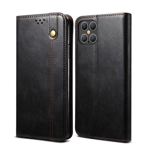 Retro Leather Magnetic Book Wallet Case For iPhone