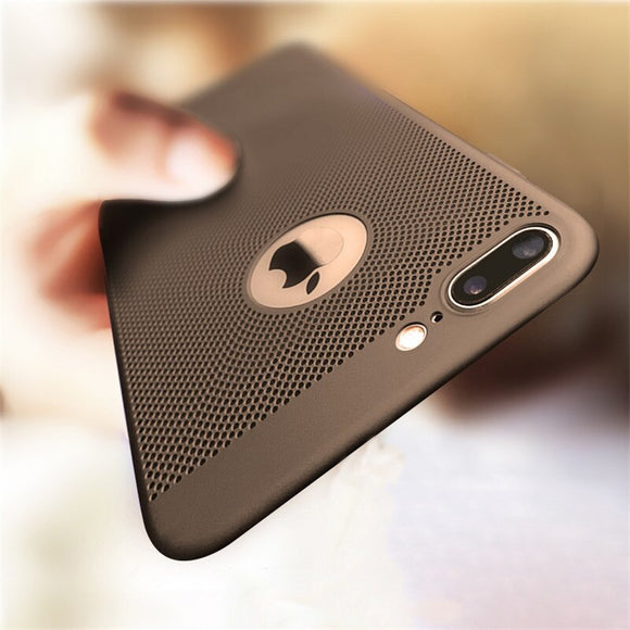 Ultra Slim Grid Heat Dissipate PC Case for iPhone Series