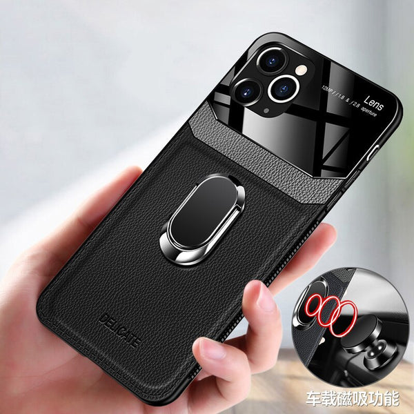 Shockproof PU Leather Tempered Glass With Stand Case for iPhone(Buy 2 Get 10% OFF,Buy3 Get 15% OFF)