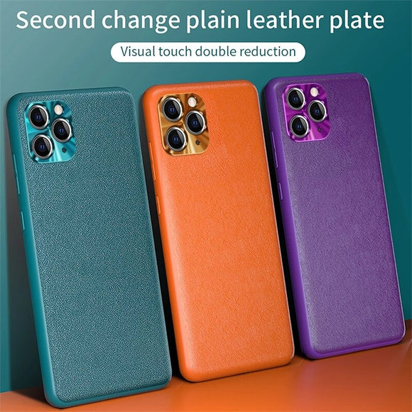 Luxury Soft Vegan Leather Cover Case for iPhone 12