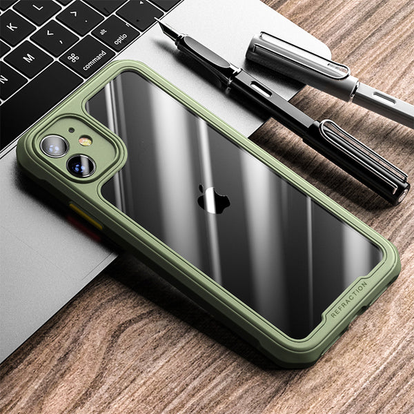 Shockproof Bumper Camera Protection Transparent Case For iPhone
