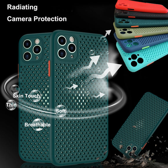 Slim Heat Dissipation Breathable Cooling Case For iPhone