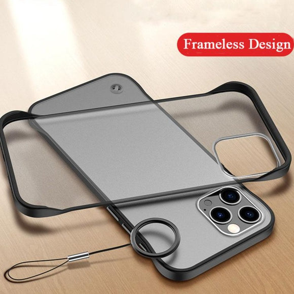 Frameless Design Thin Matte Case For iPhone with Ring