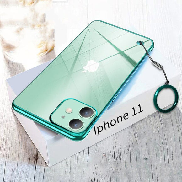 Ultra-thin Transparent Plating Frameless Cover for iPhone
