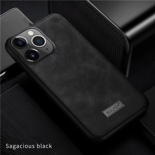 Ultra Light Soft Edge Leather Case For iPhone