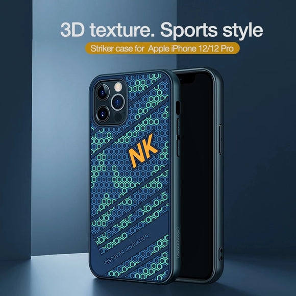 Luxury Striker 3D Texture Hard PC Back Cover for iPhone 12