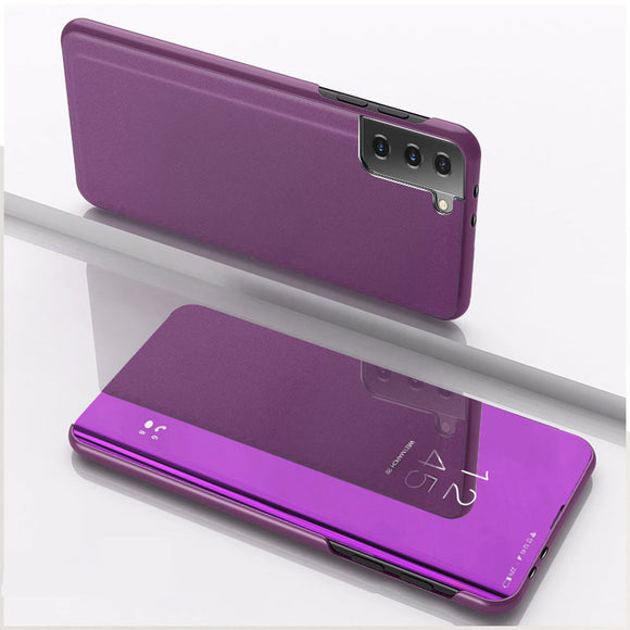 Luxury Mirror View Flip Case for Samsung Galaxy S21 Series