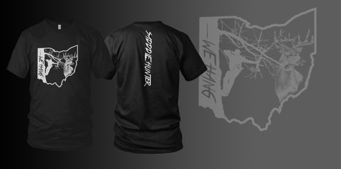 BLACK Custom State Short Sleeve SADDLE HUNTER T-shirt