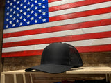 American Flag TRADITIONAL BOW SADDLE HUNTER SILHOUETTE Mesh Snap Back Hat
