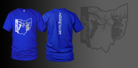 BLUE Custom State Short Sleeve SADDLE HUNTER T-shirt