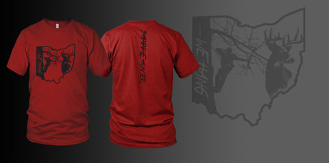 RED Custom State Short Sleeve SADDLE HUNTER T-shirt