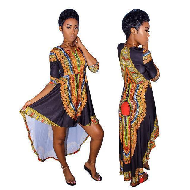 Africa Riche Bazin Dress - Copa-Wax