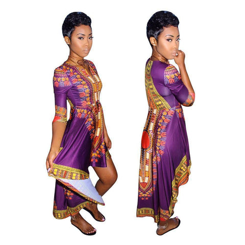 Image of Africa Riche Bazin Dress - Copa-Wax