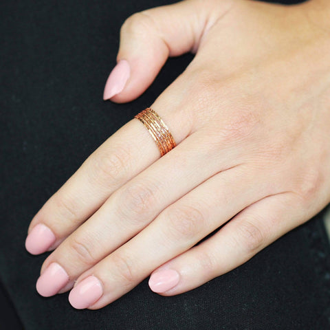 Dainty Rose Gold Stack - Copa-Wax
