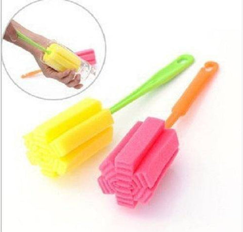 1PCS Bottle Sponge Brushes Cup Glass Milk Bottles Brush