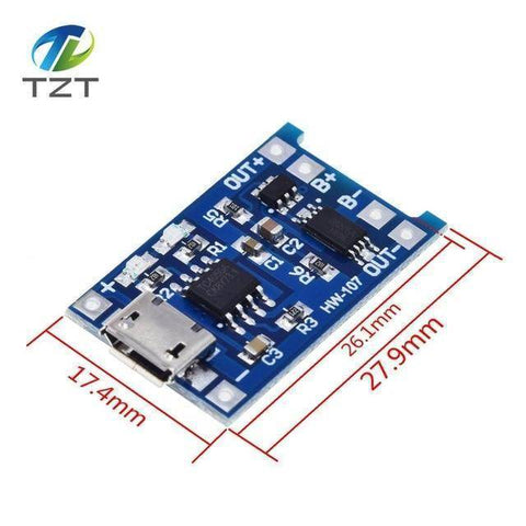 TZT type-c / Micro USB 5V 1A 18650 TP4056 Lithium Battery Charger