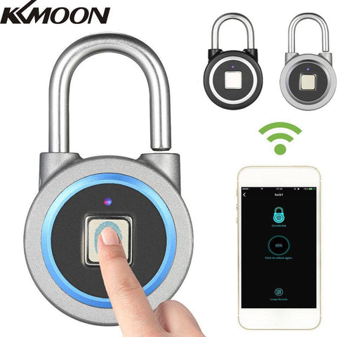BT Smart Keyless Fingerprint Lock Waterproof APP / Fingerprint Unlock Anti-Theft Security Padlock - Copa-Wax