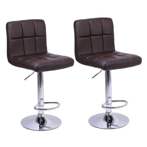 2Pcs Adjustable Backrest Bar Chair Office Cafe Furniture - Copa-Wax