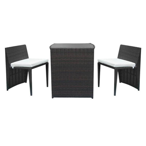 Rattan Sofa Chair 2pcs Chairs + 1 Bar Table