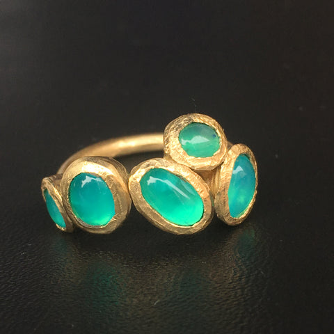 Final product of opal ring Creating Jewelry in Charlottesville. Susanne Siegel Custom Jewelry Design