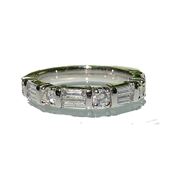 Baguette Diamond Anniversary Band Custom Designed Heirloom Jewelry by Susanne Siegel.