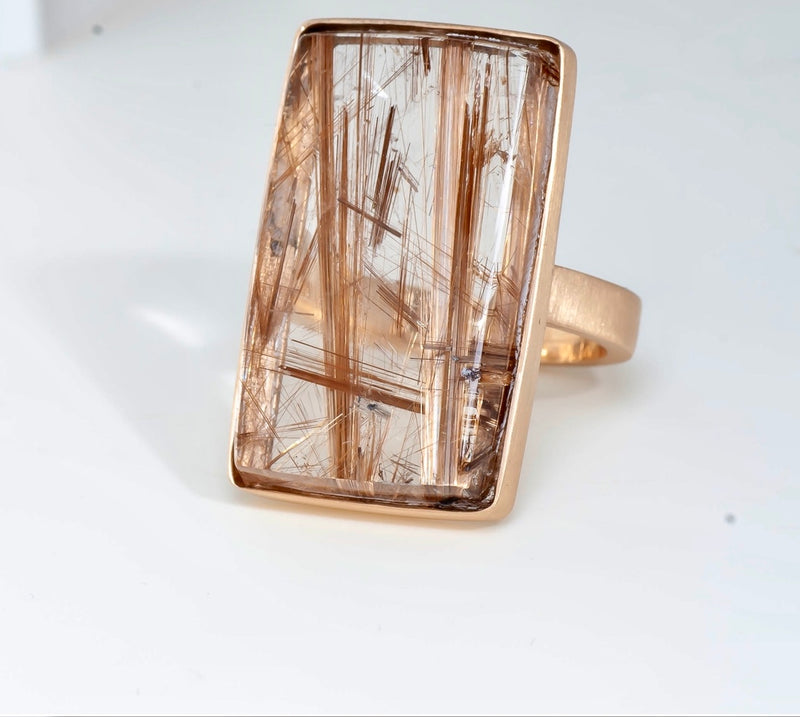 Bahia Golden Rutilated Quartz Ring