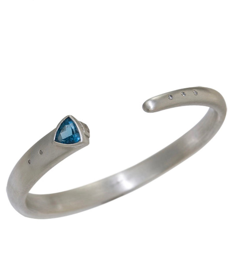 Sterling Silver Bangle Bracelet Custom Designed Heirloom Jewelry by Susanne Siegel.