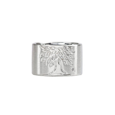 Sterling Silver Tree of Life Ring Custom Designed Heirloom Jewelry by Susanne Siegel.