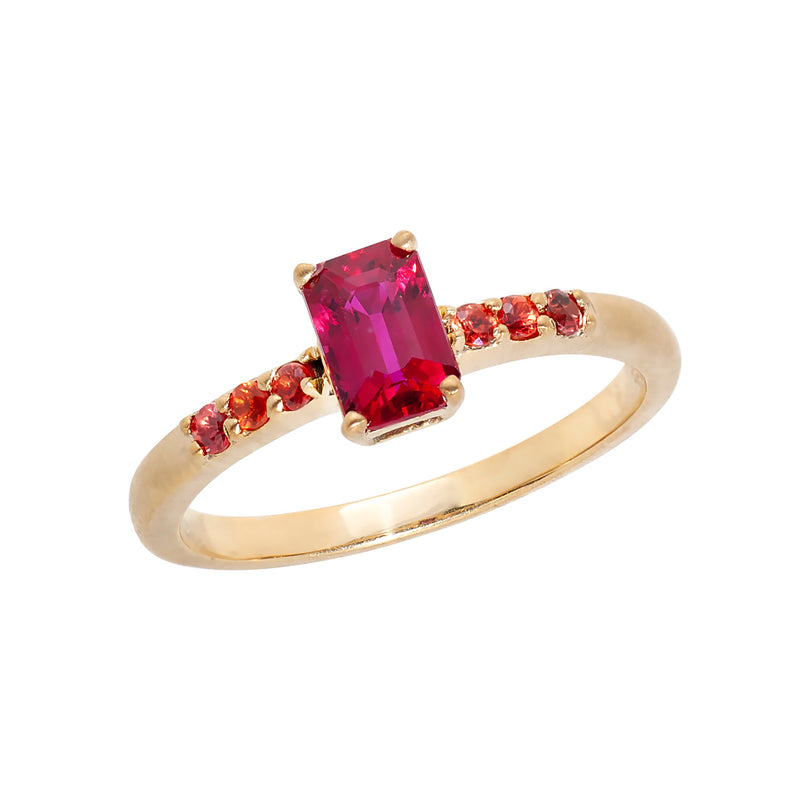 Ruby Engagement Ring Custom Designed Heirloom Jewelry by Susanne Siegel.