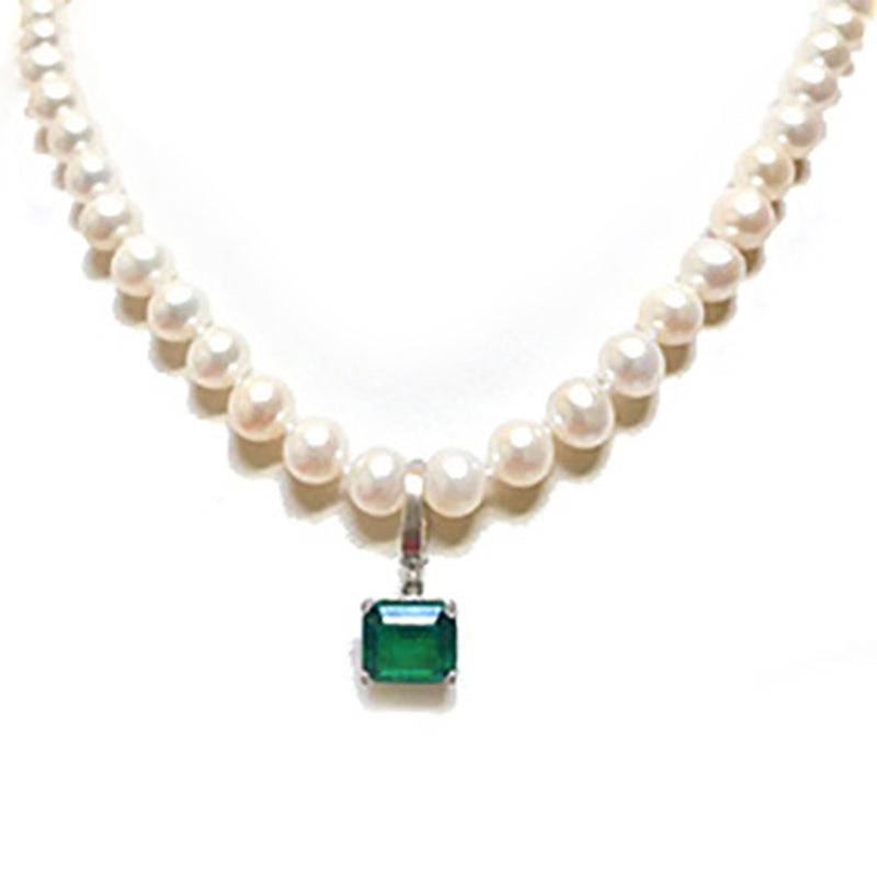 Emerald Necklace Custom Designed Heirloom Jewelry by Susanne Siegel.
