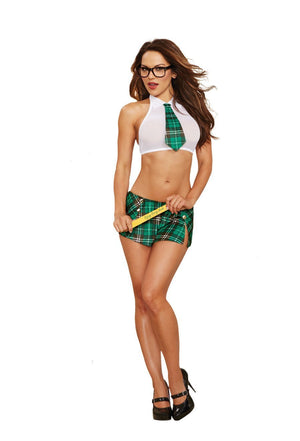 Dream Girl Lingerie Lingerie & Clothing Extra Curricular Cutie White-green O-s