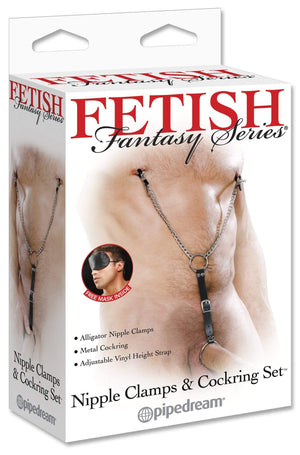 Pipedream Products Fetish Fetish Fantasy Nipple Clamps & Cock Ring Set